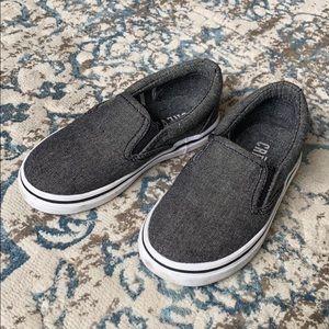 Toddler boys slip-on shoes.